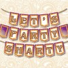 Let's Party Sharty Indian Themed Birthday / Celebration / Party Banner - Instant Download - Printable