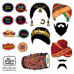 Bollywood Night, Indian Theme, Wedding Photo Booth Props - Instant Download - Printable