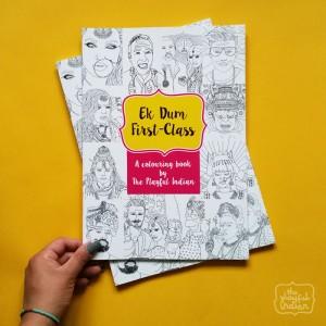 Ek Dum First-Class A4 Colouring Book