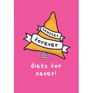 Samosas Forever Greeting Card