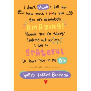 You Are Amazing - Happy Raksha Bandhan