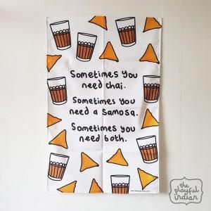 Chai & Samosa Tea Towel