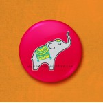Elephant - 45mm Pin Badge/Pocket Mirror/Fridge Magnet/Keyring