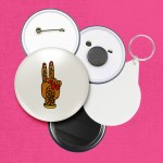 Peace 45mm Pin Badge/Pocket Mirror/Fridge Magnet/Keyring