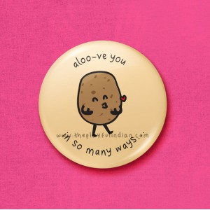 Aloove you - 45mm Pin Badge/Pocket Mirror/Fridge Magnet/Keyring