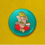 Ganesh - 45mm Pin Badge/Pocket Mirror/Fridge Magnet/Keyring