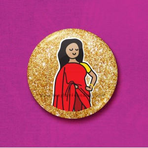 Glitter Mum - 45mm Pin Badge/Pocket Mirror/Fridge Magnet/Keyring