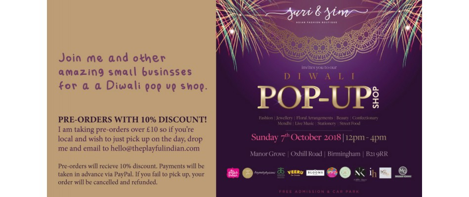 diwali pop up shop