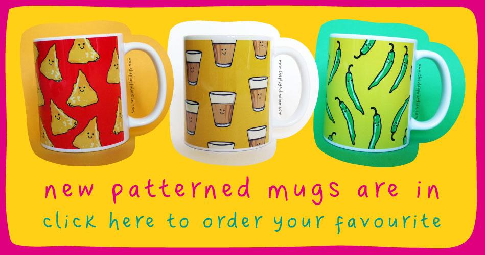 patterned mugs
