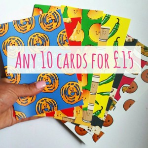ANY 10 CARDS FOR £15
