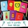 Set of 7 Graphic Greeting Cards