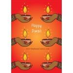 Diya Hands Card