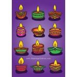 Diwali Diya Card