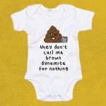 Brown Dynamite Babygrow