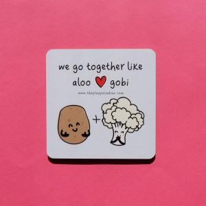 We Go Together Like Aloo Gobi Coaster - Single