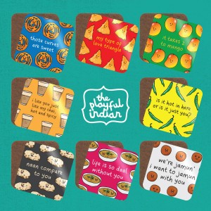 Food Brights Range Cheesy Pun Coasters - Singles