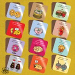 Hungry Human Range Food Pun Coasters - Singles
