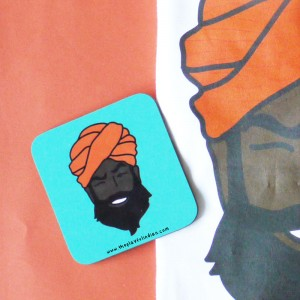 Happy Mr Singh Coaster