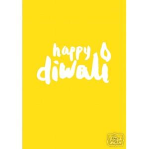 Happy Diwali - Yellow