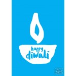 Happy Diwali - Sky Blue