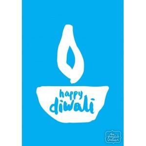 Happy Diwali - Sky Blue