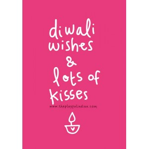 Diwali Wishes & Lots Of Kisses Diwali Card