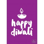 Happy Diwali - Purple