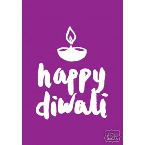 Happy Diwali - Purple