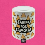 Saving For Samosas Ceramic Money Box