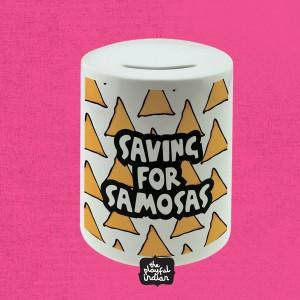 Saving For Samosas Ceramic Money Box