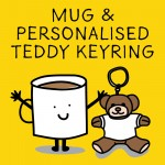 Mug & Personalised Teddy Bear Keyring