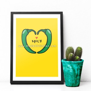 Spicy - A5 Print