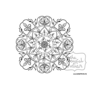 Single Diwali / Rangoli Colouring Line Art Page - Instant Download - Printable - Design04