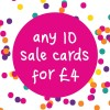 MUST GO - SALE CARDS ONLY - ANY 10 CARDS FOR £4