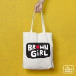 Brown Girl Shopper/Tote Bag