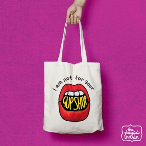 Not For Your Gup Shup Shopper/Tote Bag