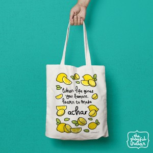 Lemon Achar Shopper/Tote Bag