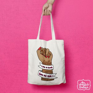 Life Is Tough Shopper/Tote Bag
