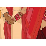 Traditional Indian Ceremony Couple Holding Hands