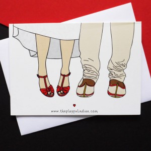 Interracial Wedding Card - Asian Male