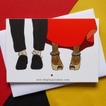 Interracial Wedding Card - Asian Female