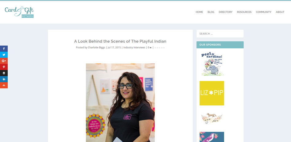 card and gift network the playful indian