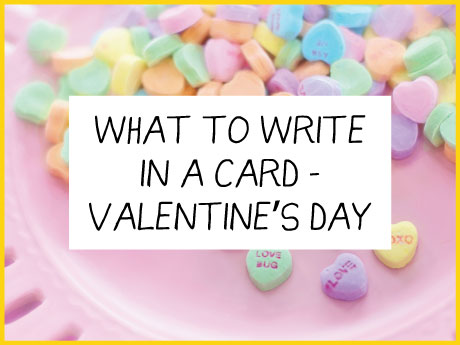 what to write valentines card