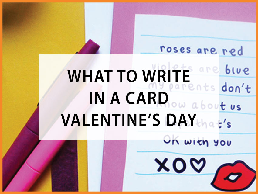 what to write in a valentines card