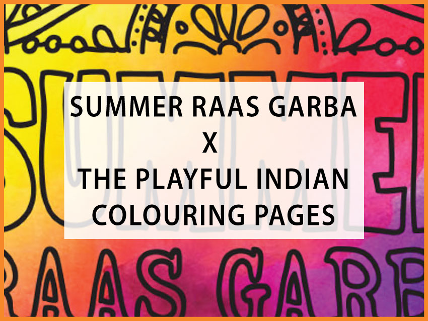 summer raas garba colouring pages