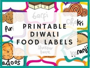 diwali food labels