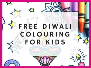 diwali colouring page free downloadbale