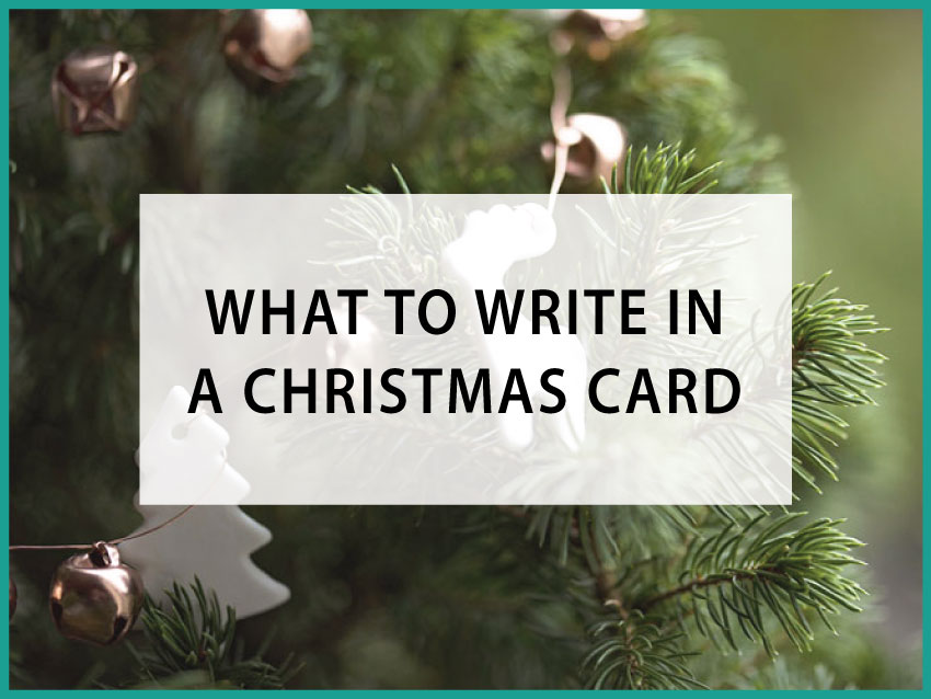what to write in a xmas card
