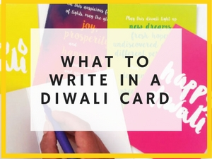 what to write in a diwali card