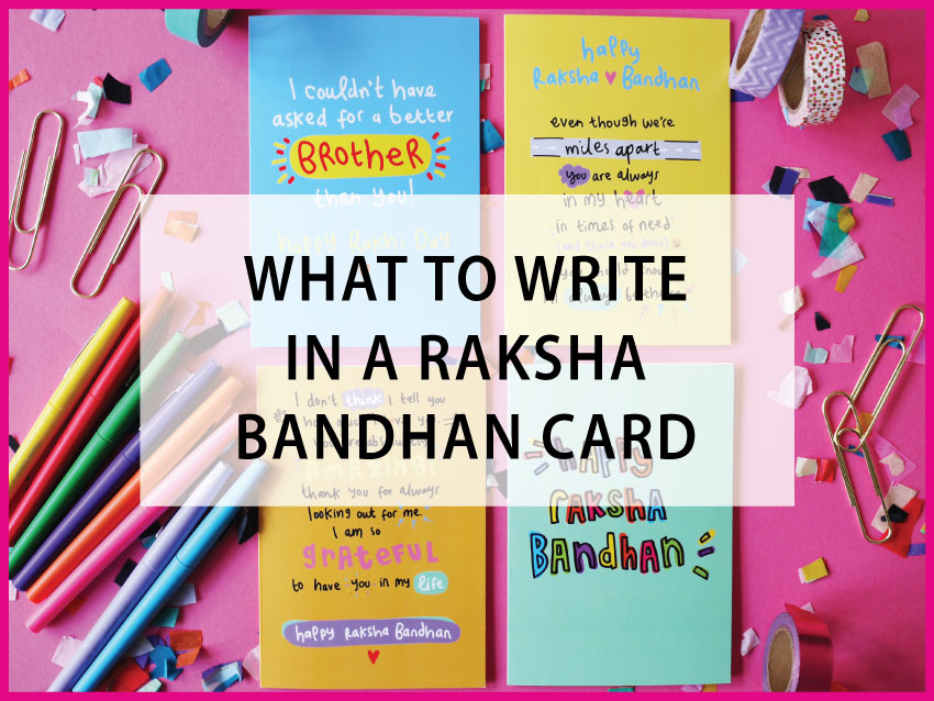 what to write in a rakhi card